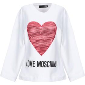 《セール開催中》LOVE MOSCHINO レディース スウェットシャツ ホワイト 38 コットン 92% / ポリウレタン 8%