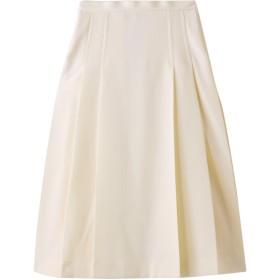 BLAMINK ブラミンク ウールサイドプリーツ トラペーズスカート ナチュラル