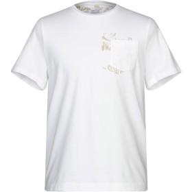 《セール開催中》HERITAGE メンズ T シャツ ホワイト 46 コットン 95% / ポリウレタン 5%