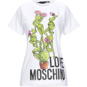 《セール開催中》LOVE MOSCHINO レディース T シャツ ホワイト 38 コットン 93% / ポリウレタン 7%