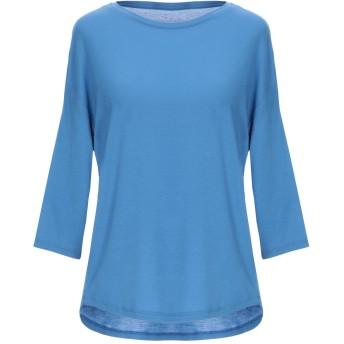 《セール開催中》MAJESTIC FILATURES レディース T シャツ ブルー 1 レーヨン 94% / ポリウレタン 6%