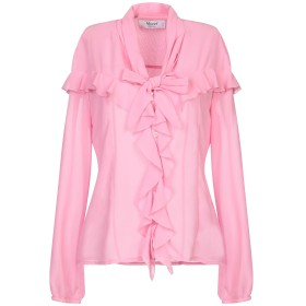 《セール開催中》BLUGIRL BLUMARINE レディース シャツ ピンク 42 ポリエステル 100%