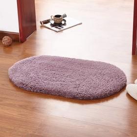 バスルームマット、シンプルでモダンな吸収パッドポリエステル繊維ぬいぐるみクッションオーバルドアマットソフトカーペットホームバスルームベッドルーム(50  80 cm),A,5080cm