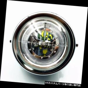 "7.5/"" Side Mount Chrome ECE Japanese Motorcycle Headlight Honda Kawasaki Cafe"