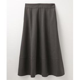 ウール調裾切替デザインフレアスカート (ひざ丈スカート)Skirts, 裙子