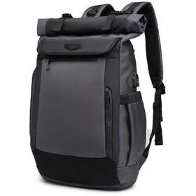 トラベルバックパック、メンズカジュアルUSB充電バックパック、防水盗難防止コンピューターバックパック