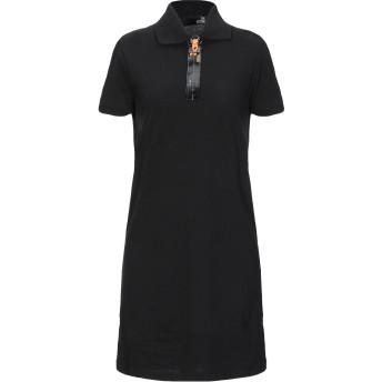 《セール開催中》LOVE MOSCHINO レディース ミニワンピース&ドレス ブラック 38 コットン 95% / ポリウレタン 5%