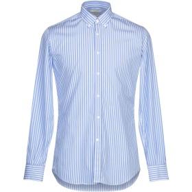 《期間限定セール開催中!》DEL SIENA メンズ シャツ アジュールブルー 39 コットン 100%