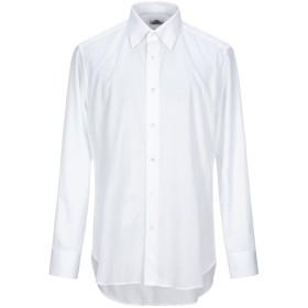 《セール開催中》CASTANGIA メンズ シャツ ホワイト 44 コットン 100%