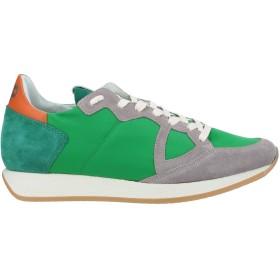 《セール開催中》PHILIPPE MODEL メンズ スニーカー&テニスシューズ(ローカット) グリーン 40 革 / 紡績繊維