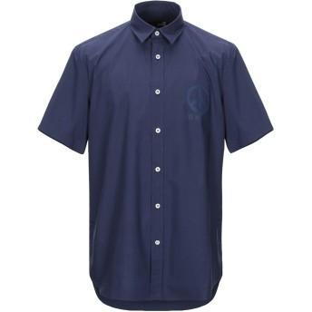 《セール開催中》LOVE MOSCHINO メンズ シャツ ダークブルー XS コットン 100%