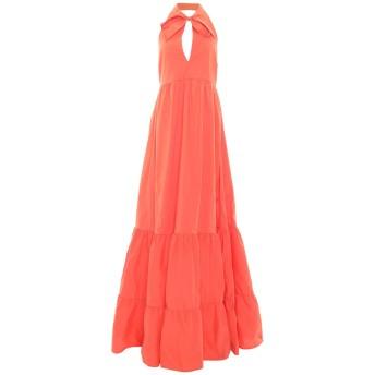 《セール開催中》TWINSET レディース ロングワンピース&ドレス オレンジ 48 コットン 97% / ポリウレタン 3%