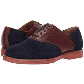 [ポロラルフローレン] メンズオックスフォード・靴 Rhett Saddle Navy/New Tan Suede/Heavyweight Smooth Leather (30cm) D - Medium [並行輸入品]