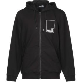 《期間限定セール開催中!》LOVE MOSCHINO メンズ スウェットシャツ ブラック XS コットン 94% / ポリウレタン 6%