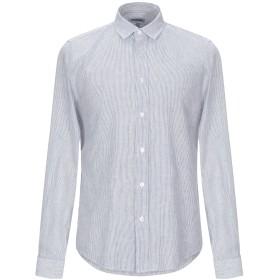 《セール開催中》BIKKEMBERGS メンズ シャツ ダークブルー 38 麻 55% / コットン 45%