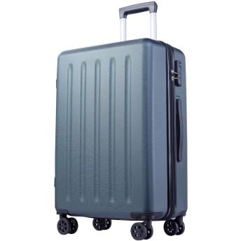 EOWO スーツケース 軽量 ファスナー開閉タイプ バッグ SML 8輪 かばん 旅行用(M,グリーン)67CAA
