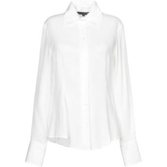 《セール開催中》BRIAN DALES レディース シャツ ホワイト 42 アセテート 65% / シルク 35%
