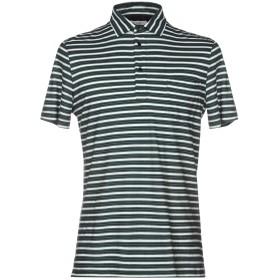 《セール開催中》PAOLO PECORA メンズ ポロシャツ ダークグリーン M コットン 100%