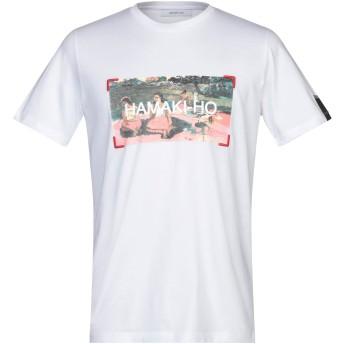 《セール開催中》HAMAKI-HO メンズ T シャツ ホワイト S コットン 100%