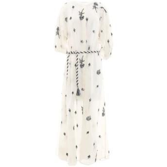 《セール開催中》P_JEAN レディース ロングワンピース&ドレス ホワイト 38 コットン 100% / ポリエステル
