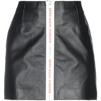 《セール開催中》HERON PRESTON レディース ミニスカート ブラック XS 革 100%