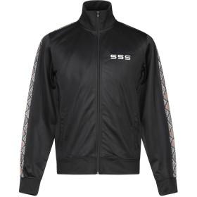 《セール開催中》SSS WORLD CORP. メンズ スウェットシャツ ブラック XXS ポリエステル 100%