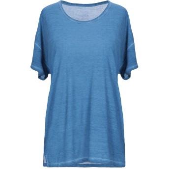 《セール開催中》MAJESTIC FILATURES レディース T シャツ ブルー 2 シルク 100%