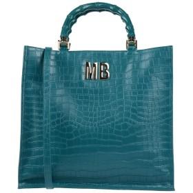 《セール開催中》MIA BAG レディース ハンドバッグ ディープジェード 革 100% / ポリエステル