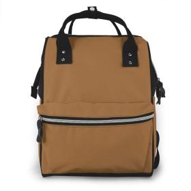 万洋 最新旅行 通勤 個性的 多機能レジャーバッグ リュック マザーズバッグ ベビー用品収納 出産準備 防水盗難防止ポケット シンプル大容量手提げ袋 かわいい -淡い茶色