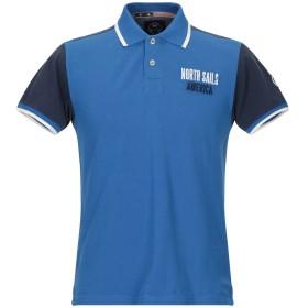 《期間限定セール開催中!》NORTH SAILS メンズ ポロシャツ ブルー M コットン 100%