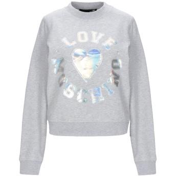 《セール開催中》LOVE MOSCHINO レディース スウェットシャツ グレー 42 コットン 92% / ポリウレタン 8%