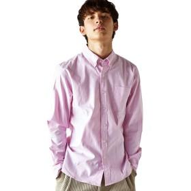 [アビト] ボタンダウンシャツ 長袖 メンズ ピンク L サイズ