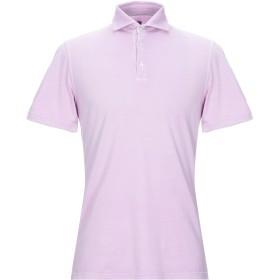 《セール開催中》FEDELI メンズ ポロシャツ ライトパープル 48 コットン 100%