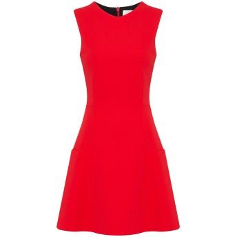 《セール開催中》VICTORIA BECKHAM レディース ミニワンピース&ドレス レッド 6 トリアセテート 63% / ポリエステル 37%