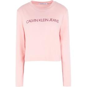 《セール開催中》CALVIN KLEIN JEANS レディース T シャツ ピンク XS コットン BCI 100% INSTITUTIONAL LOGO L