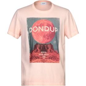 《セール開催中》DONDUP メンズ T シャツ サーモンピンク XXL コットン 100%