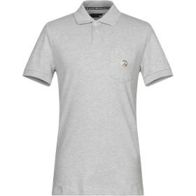 《期間限定セール開催中!》LOVE MOSCHINO メンズ ポロシャツ グレー XS コットン 95% / ポリウレタン 5%