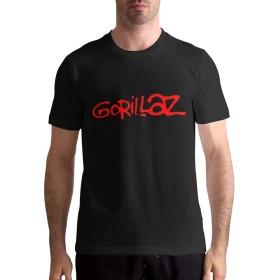 ゴリラズ Gorillaz XL Tシャツ メンズ 半袖 メンズ Tシャツ 綿tシャツ 快適な 軽い 柔らかい カジュアル 服 丸首 夏季対応 夏服