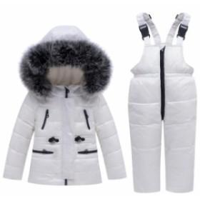 キッズ オーバーコートダウンコート 上下セット 子供 ダウンジャケット 防風 防寒 暖かい コート 秋冬子供服