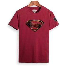 CCOMFO Superman スーパーマン Justice League ジャスティス・リーグ メンズ/レディース Tシャツ/夏服 スポーツ Tシャツ ブラック/半袖 Tシャ