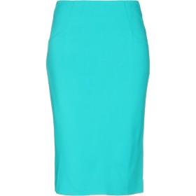 《セール開催中》MARIA GRAZIA SEVERI レディース ひざ丈スカート エメラルドグリーン 40 レーヨン 96% / ポリウレタン 4%