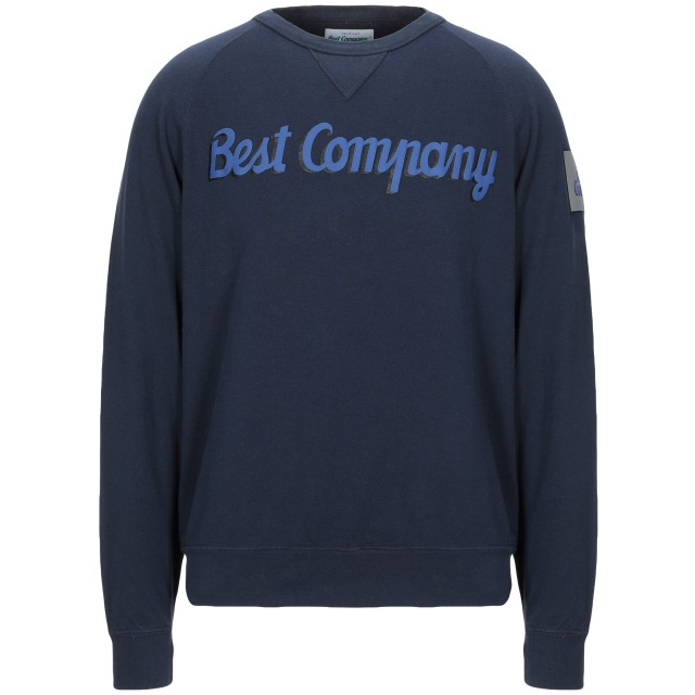 《期間限定セール開催中!》BEST COMPANY メンズ スウェットシャツ ダークブルー L コットン 100%