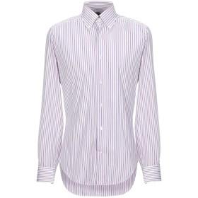 《セール開催中》TRUZZI メンズ シャツ パープル 39 コットン 100%