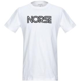 《期間限定セール開催中!》NORSE PROJECTS メンズ T シャツ ホワイト M コットン 100%