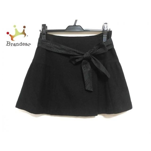 バーバリーブルーレーベル Burberry Blue Label 巻きスカート サイズ36 S レディース 美品 黒 新着 20190926