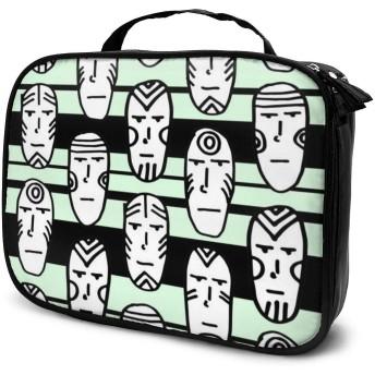 コスメバッグ バニティケース 化粧品袋 コスメボックス メイクボックス 化袋 バスルームバッグ ビジネスバッグ カオナシ 人形 大容量 軽量 ポータブル 化粧道具 保管 ファッション 多機能