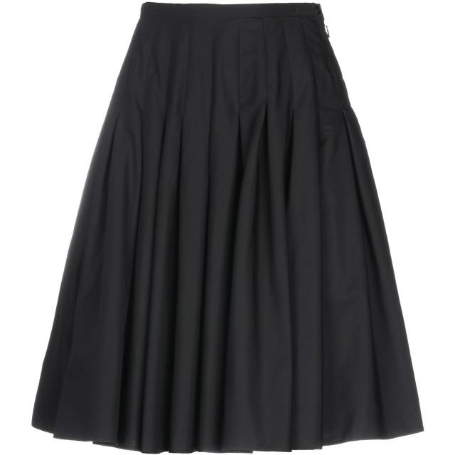 《期間限定セール開催中!》ASPESI レディース ひざ丈スカート ブラック 40 コットン 100%