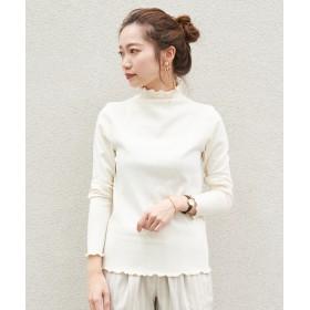 CAPRICIEUX LE'MAGE(カプリシュレマージュ) レディース リブハイネックTシャツ オフホワイト
