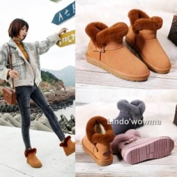 ムートンブーツ 冬 厚底 靴 ショートブーツ レディースシューズ 滑り止め 超かわいい 防寒 定番
