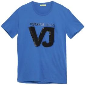 《セール開催中》VERSACE JEANS メンズ T シャツ ブルー M コットン 100%